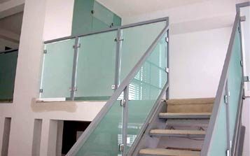 Frosted Glass Stair Railings